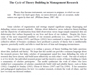 ترجمه مقاله The Cycles of Theory Building in Management Research Paul R Carlile
