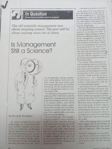 ترجمه مقاله Is management still a science? By David H Freedman